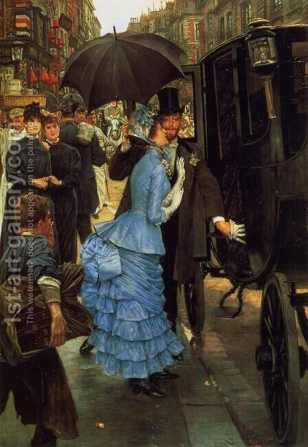 The Bridesmaid by James Jacques Joseph Tissot - Reproduction Oil Painting