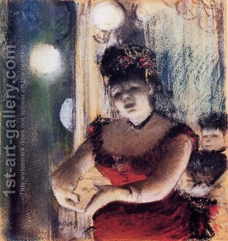 Singer in a Cafe-Concert by Edgar Degas - Reproduction Oil Painting