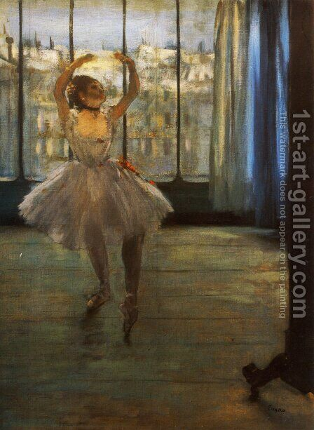Dancer Posing by Edgar Degas - Reproduction Oil Painting