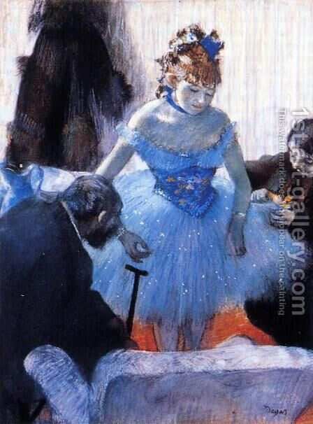 Dancer's Dressing Room by Edgar Degas - Reproduction Oil Painting