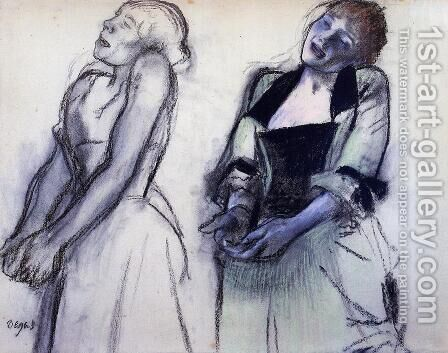 Two Studies for 'Music Hall Singers' by Edgar Degas - Reproduction Oil Painting