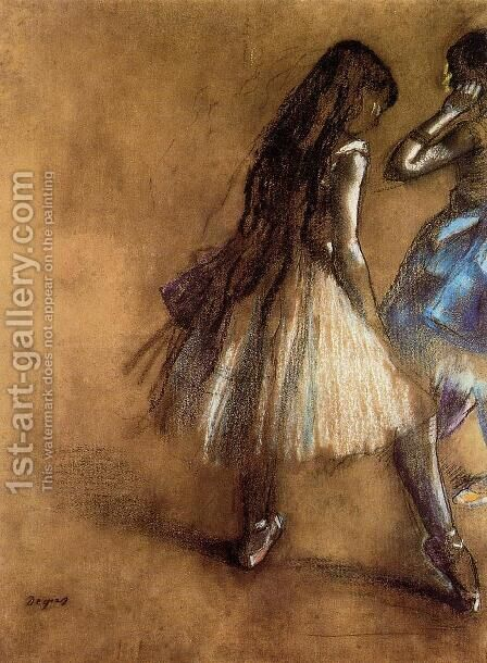 Two Dancers II by Edgar Degas - Reproduction Oil Painting