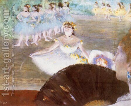 Dancer with a Bouquet of Flowers by Edgar Degas - Reproduction Oil Painting