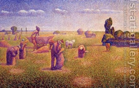 The Harvesters by Charles Angrand - Reproduction Oil Painting