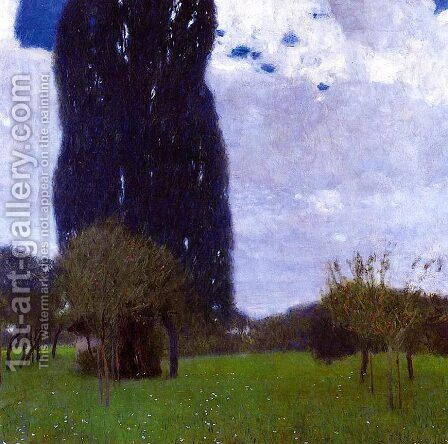 The Tall Poplar Trees II by Gustav Klimt - Reproduction Oil Painting