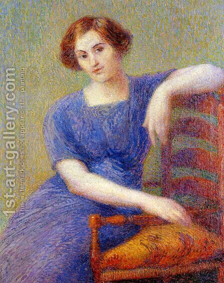 Young Woman in an Armchair by Hippolyte Petitjean - Reproduction Oil Painting