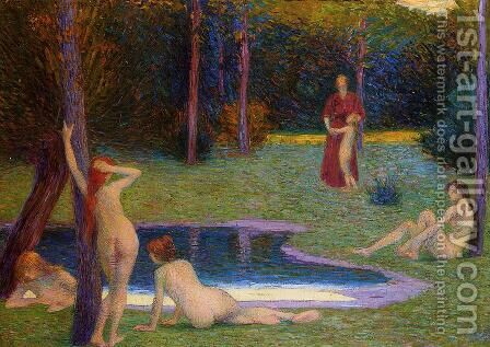 Bathers in the Evening by Hippolyte Petitjean - Reproduction Oil Painting