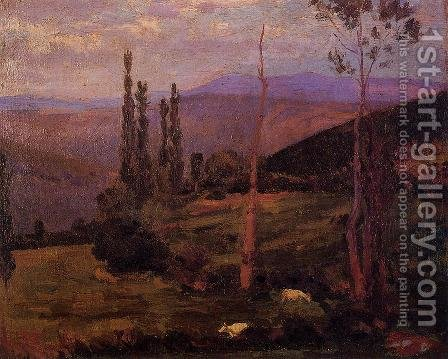 Landscape by Hippolyte Petitjean - Reproduction Oil Painting