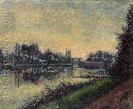 Landscape with Lock by Albert Dubois-Pillet - Reproduction Oil Painting