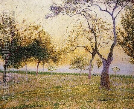 Landscape with Trees by Adrien Josef Heymans - Reproduction Oil Painting