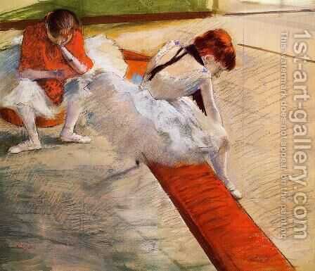 Dancers Resting by Edgar Degas - Reproduction Oil Painting