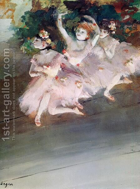 Three Ballet Dancers by Edgar Degas - Reproduction Oil Painting