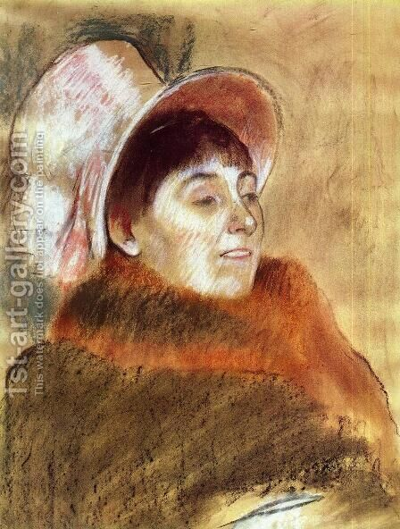 Madame Deitz-Monin by Edgar Degas - Reproduction Oil Painting