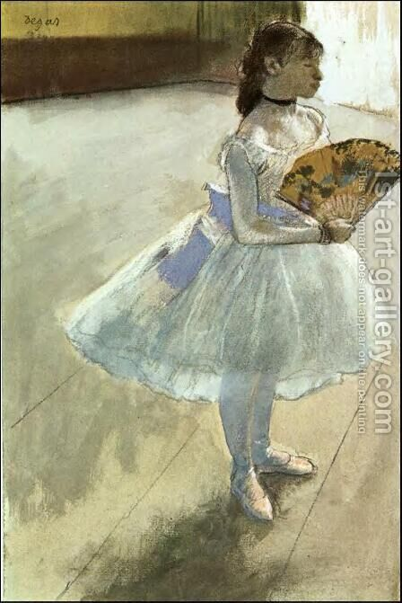 Dancer with a Fan by Edgar Degas - Reproduction Oil Painting