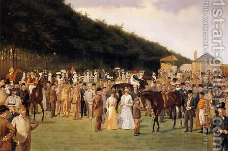 Newmarket, a July Meeting by Isaac Cullin - Reproduction Oil Painting