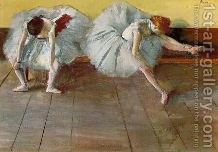 Two Ballet Dancers I by Edgar Degas - Reproduction Oil Painting