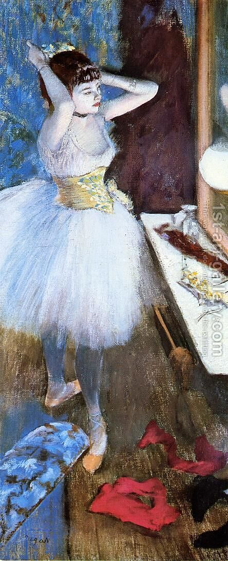 Dancer in Her Dressing Room I by Edgar Degas - Reproduction Oil Painting