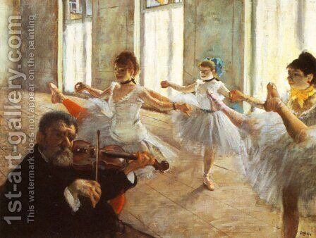 Rehearsal by Edgar Degas - Reproduction Oil Painting