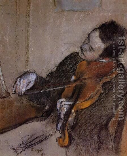 L'Altiste by Edgar Degas - Reproduction Oil Painting