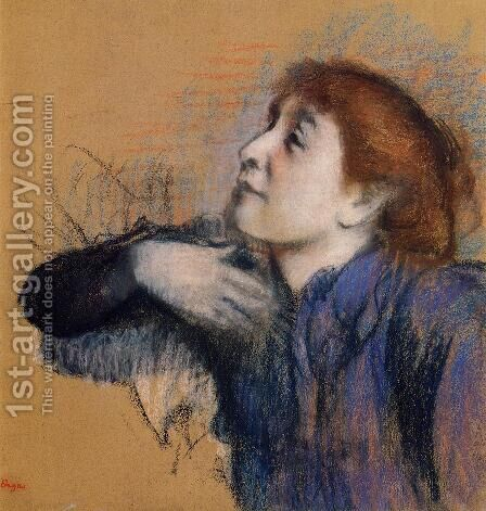 Bust of a Woman by Edgar Degas - Reproduction Oil Painting
