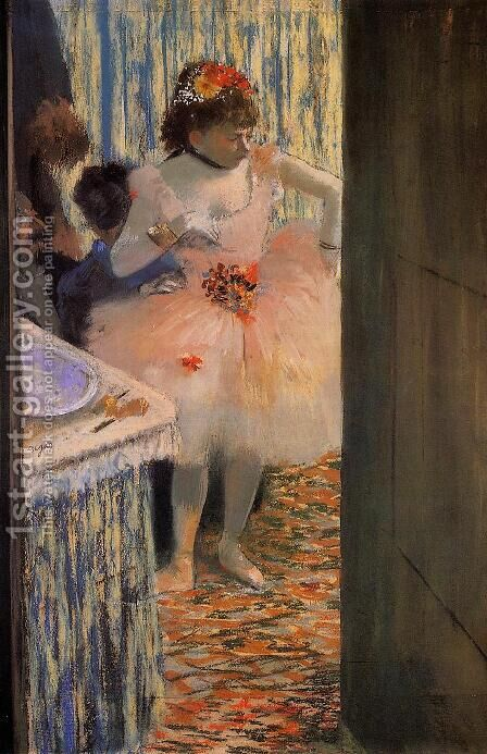 Dancer in Her Dressing Room II by Edgar Degas - Reproduction Oil Painting