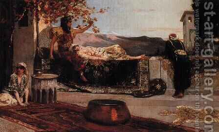 On the Terrace by Benjamin Jean Joseph Constant - Reproduction Oil Painting