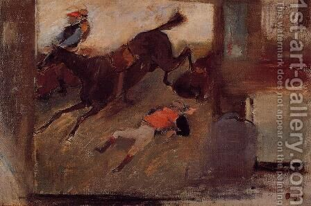 Studio Interior with 'The Steeplechase' by Edgar Degas - Reproduction Oil Painting