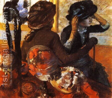 At the Milliner's I by Edgar Degas - Reproduction Oil Painting