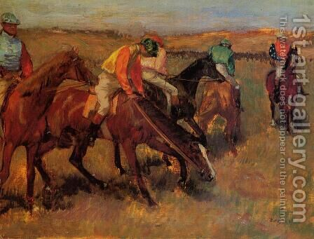 Before the Race II by Edgar Degas - Reproduction Oil Painting
