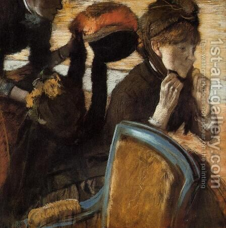 At the Milliner's II by Edgar Degas - Reproduction Oil Painting