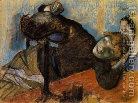 The Milliner by Edgar Degas - Reproduction Oil Painting