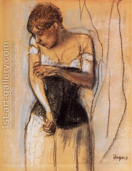 Woman Touching Her Arm by Edgar Degas - Reproduction Oil Painting