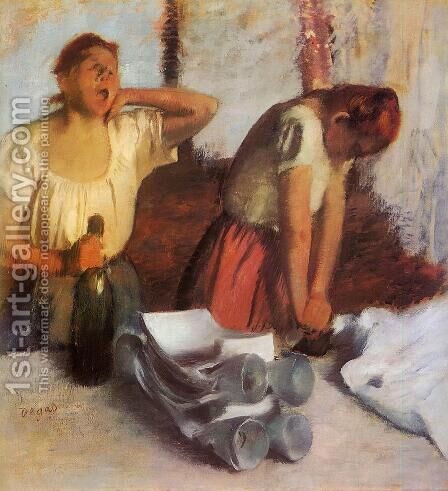 Laundry Girls Ironing I by Edgar Degas - Reproduction Oil Painting