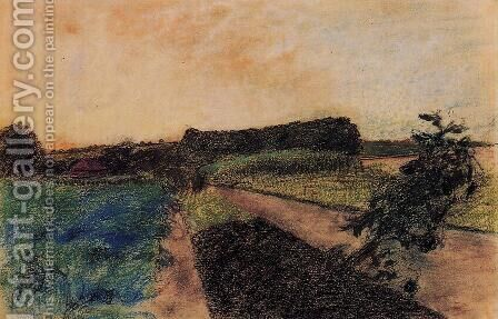 Landscape on the Orne by Edgar Degas - Reproduction Oil Painting