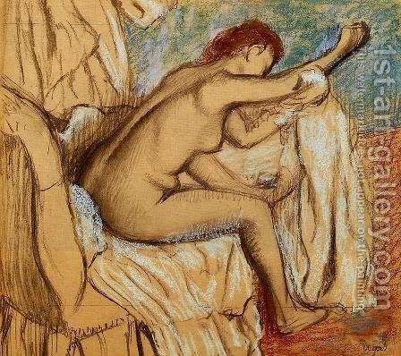 Woman Drying Herself IV by Edgar Degas - Reproduction Oil Painting