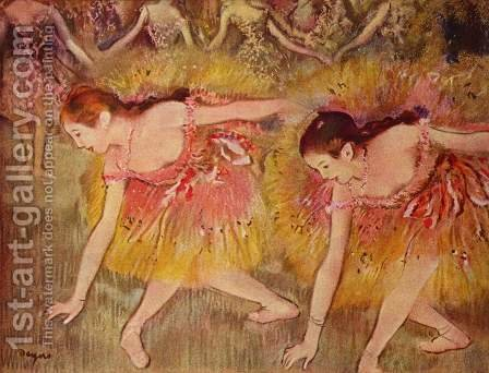 Dancers Bending Down by Edgar Degas - Reproduction Oil Painting