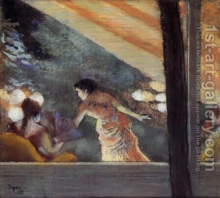 At the Cafe des Ambassadeurs by Edgar Degas - Reproduction Oil Painting