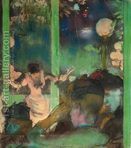 At the Cafe des Ambassadeurs I by Edgar Degas - Reproduction Oil Painting
