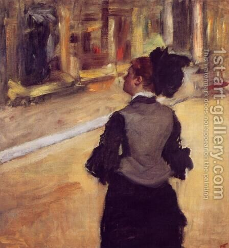 A Visit to the Museum by Edgar Degas - Reproduction Oil Painting