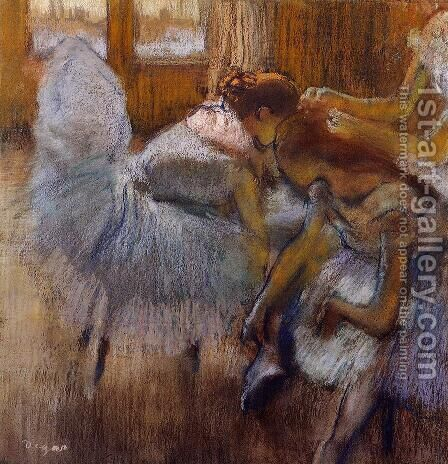 Dancers Relaxing by Edgar Degas - Reproduction Oil Painting