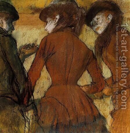 Three Women at the Races by Edgar Degas - Reproduction Oil Painting