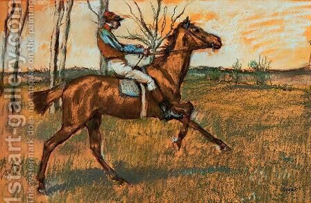 The Jockey by Edgar Degas - Reproduction Oil Painting