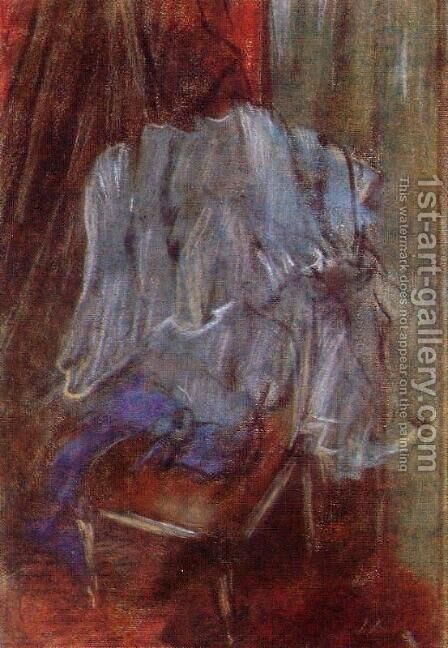 Vestment on a Chair by Edgar Degas - Reproduction Oil Painting