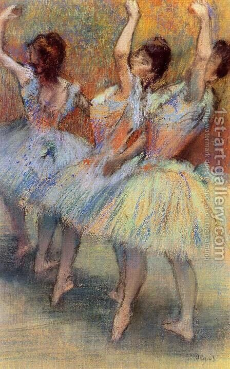 Three Dancers by Edgar Degas - Reproduction Oil Painting