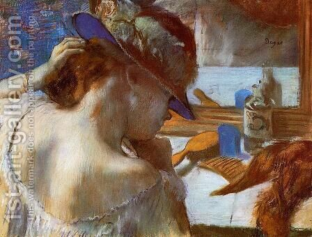 Mirror by Edgar Degas - Reproduction Oil Painting
