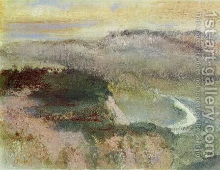Landscape with Hills by Edgar Degas - Reproduction Oil Painting