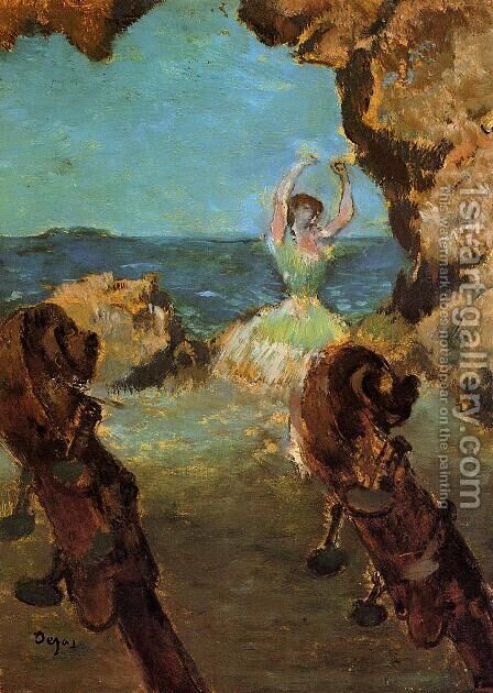 Dancer on Stage I by Edgar Degas - Reproduction Oil Painting