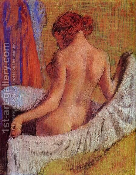After the Bath VIII by Edgar Degas - Reproduction Oil Painting