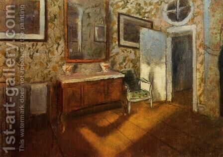 Interior at Menil-Hubert by Edgar Degas - Reproduction Oil Painting