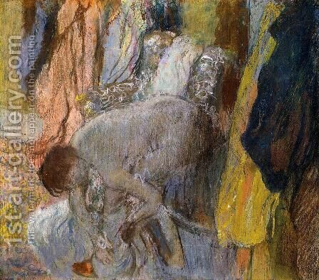 Woman Washing Her Feet by Edgar Degas - Reproduction Oil Painting